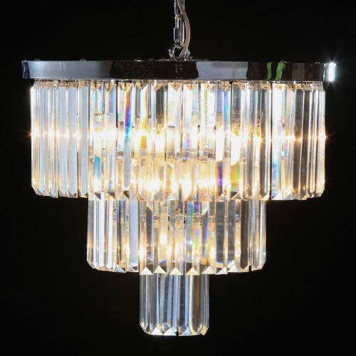 Cascade Round Chandelier in Chrome